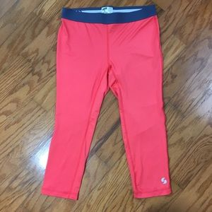 Soffe Dri Low Rise Capri Leggings Size Large 11/13